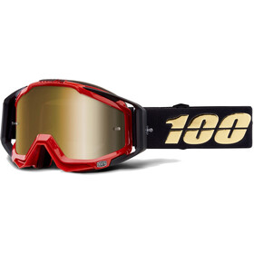 100% Racecraft Anti Fog Mirror goggles, hot rod
